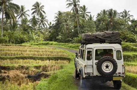 mit dem Jeep durch Bali