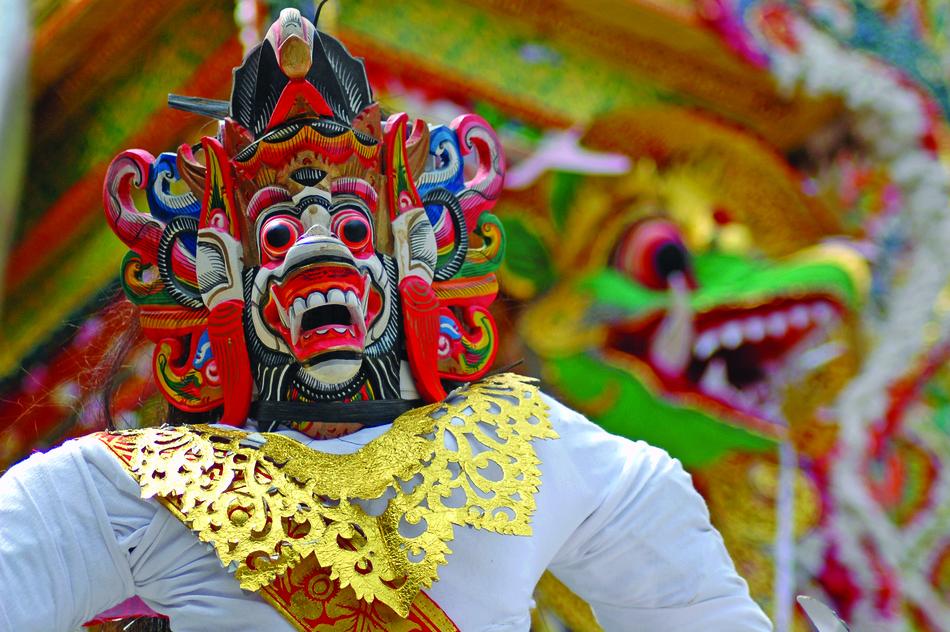 Traditionelle Maske auf Bali