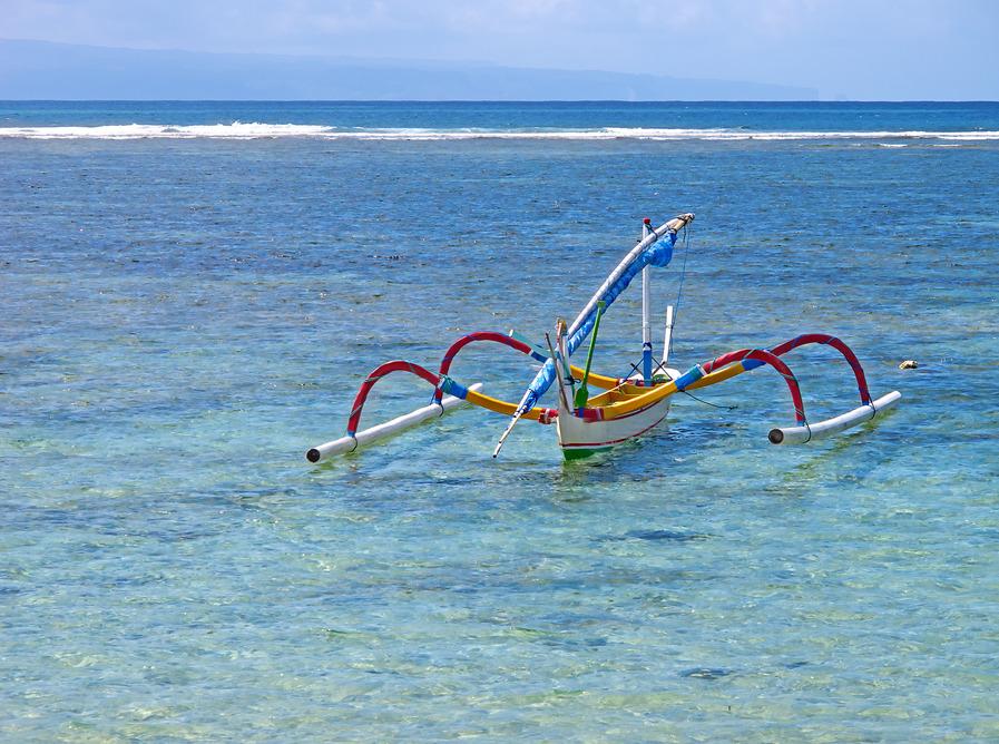 Traditionelles Boot auf Bali