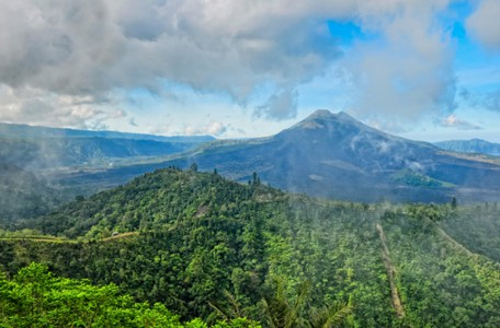 Volcano mount Gunung Batur, Kintamani, Bali